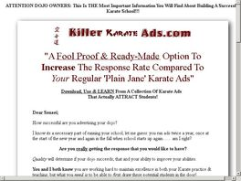 Go to: Killer Karate Ads