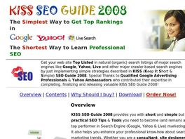 Go to: Kiss Seo Guide 2008 - The Simplest Way To Get Top Rankings!