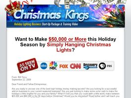 Go to: Christmas Light Business Package & Training Video