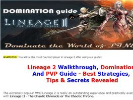 Go to: Lineage 2 Domination Guide