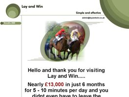 Go to: Lay And Win