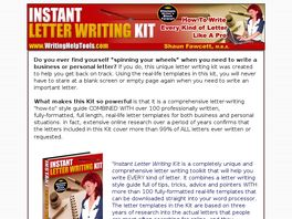 Go to: Instant Letter Writing Kit.
