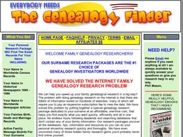 Go to: Dedicated Genealogy Records For Your Exact Surname
