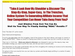 Go to: Step By Step Affiliate Marketing System - Video Series