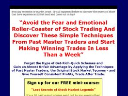 Go to: Long Lost Stock Trading Secrets.