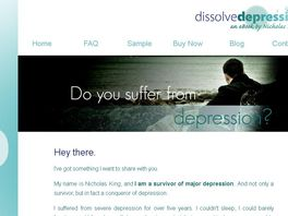 Go to: Dissolve Depression - an eBook by Nicholas King