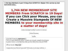 Go to: Massisve Membership Stampede