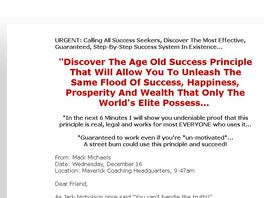 Go to: The Success Principle - Appeals To Everyone!