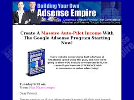 Go to: Build An Adsense Empire...big Seller And 75% To Affiliates!!