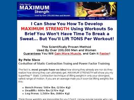 Go to: Maximum Strength Workout