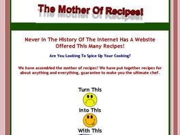 Go to: The Mother Of Recipes.