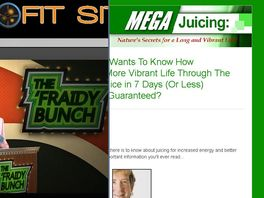 "Go to: ""mega Juicing: Nature's Secrets For A Long And Vibrant Life!"""