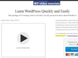 Go to: Ultimate Wordpress Video Tutorials
