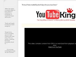 Go to: The Youtube King - Make Money Online With Video Sponsoring