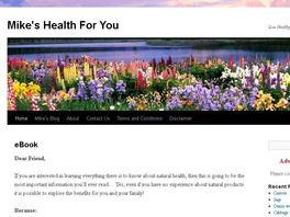 Go to: Mikes Health 4 U Ebook