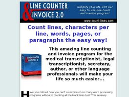 Go to: Line Count And Invoice Program