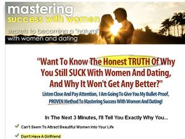 Go to: Mastering Success With Women: Incredible Product W/ High Conversions