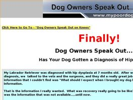 Go to: Dog Owners Speak Out