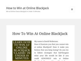Go to: How To Win At Online 'classic' Blackjack In Under 10 Minutes'