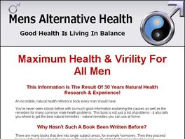 Go to: Mens Maximum Health & Virility Natural Solutions