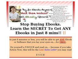 Go to: Never Buy A Ebook Again.