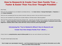 Go to: How To Research And Create Your Own Unique Family Tree.