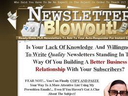 Go to: NewsLetter Blowout - Affiliates Earn 50% Commissions!