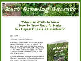 Go to: Herb Growing Secrets