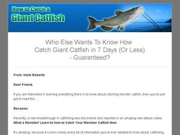 Go to: What A Monster! Learn How To Catch Your Monster Catfish Now