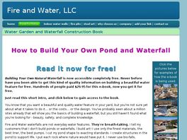Go to: How To Build Your Own Natural Waterfall.