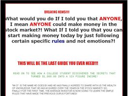 Go to: Most Famous Stock Market Strategies Guide Book.