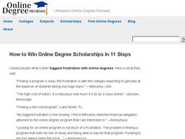 Go to: How to Win Online Degree Scholarships in 11 Steps