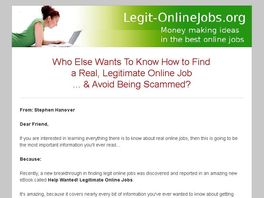 Go to: Help Wanted! Legitimate Online Jobs
