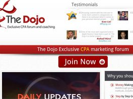 Go to: The Dojo | Cpa And Affiliate Marketing Forum.
