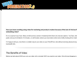 Go to: Brand New - Video Domination Plugin