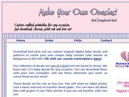 Go to: Make Your Own Onesies!