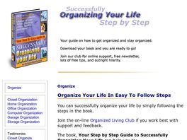 Go to: Your Step By Step Guide To Successfully Organizing Your Life.