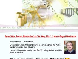 Go to: Brand New Proven Winning Pick 3 Lotto System
