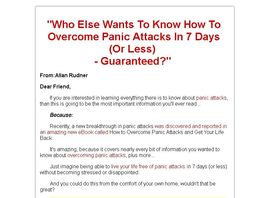 Go to: How To Overcome Panic Attacks And Get Your Life Back