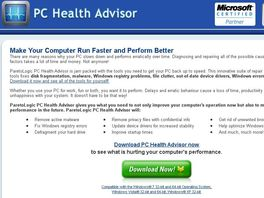 Go to: PC Health Advisor