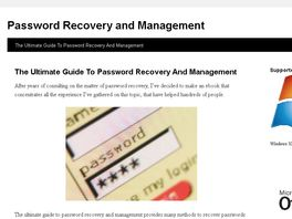 Go to: The Ultimate Guide To Pasword Recovery And Management