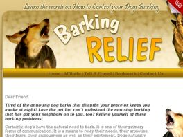 Go to: Barking Relief.