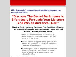 Go to: Public Speaking Techniques To Persuade And Influence Your Listeners!