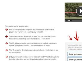 Go to: Ultimate Youth Football Training Program. 2.7% Conversion
