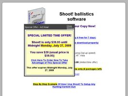 Go to: Shoot! Ballistics Software.