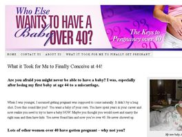 Go to: Who Else Wants To Have A Baby Over 40?
