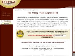 Go to: Pre-Incorporation Agreement