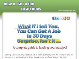 Go to: How To Get a Job Fast