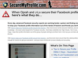 Go to: Secure Your Facebook Profile From Hackers