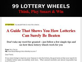 Go to: 99 Lottery Wheels - A Guide For Your Lottery Jackpot